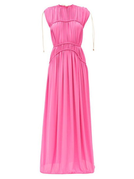 Maison Rabih Kayrouz - Gathered Crepe Gown - Womens - Pink