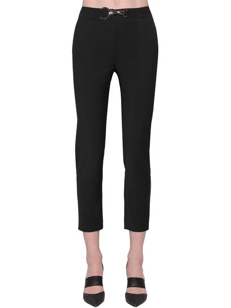 ACT N°1 Wool Blend Cropped Pants W/buckle in black