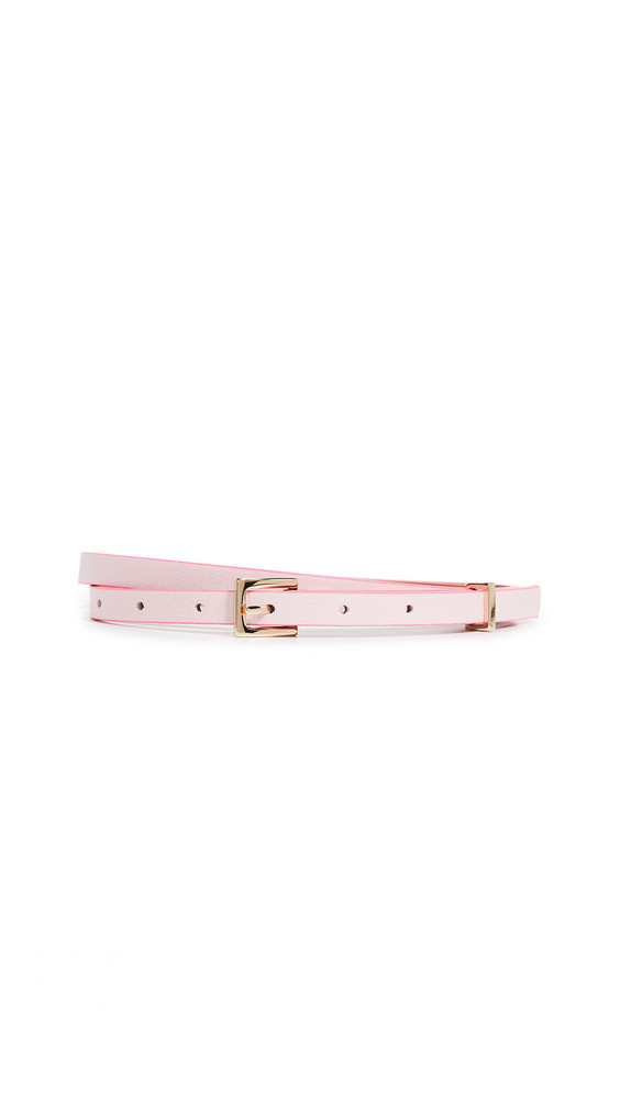 Maison Boinet 10mm Leather Color Contrasting Belt in pink