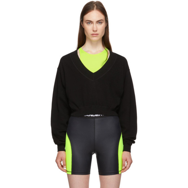 alexanderwang.t Black and Yellow Bi-Layer Sweater