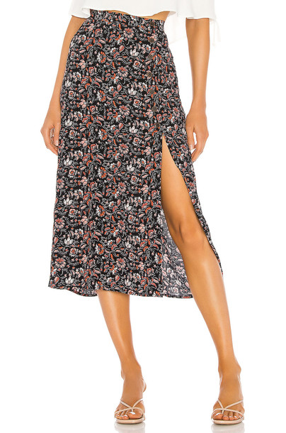 Sanctuary Hollyhock Midi Skirt in black