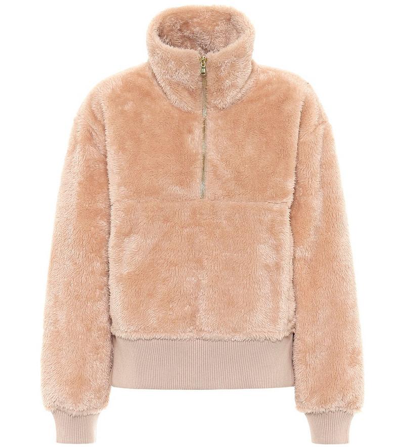Varley Duray fleece sweatshirt in beige