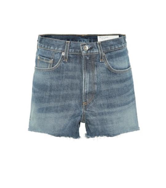 Rag & Bone High-rise denim shorts in blue