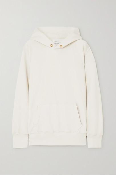 LES TIEN - Cotton-jersey Hoodie - Cream