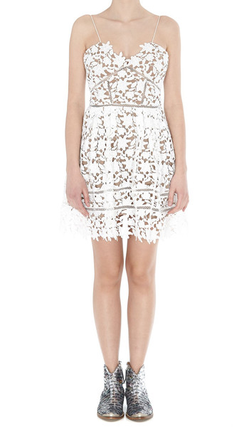 Self-portrait Azalea Dress in white