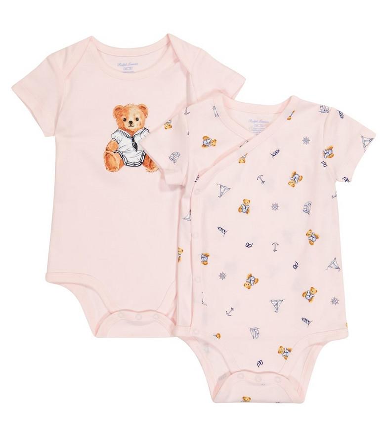 Polo Ralph Lauren Kids Baby set of 2 cotton bodysuits in pink