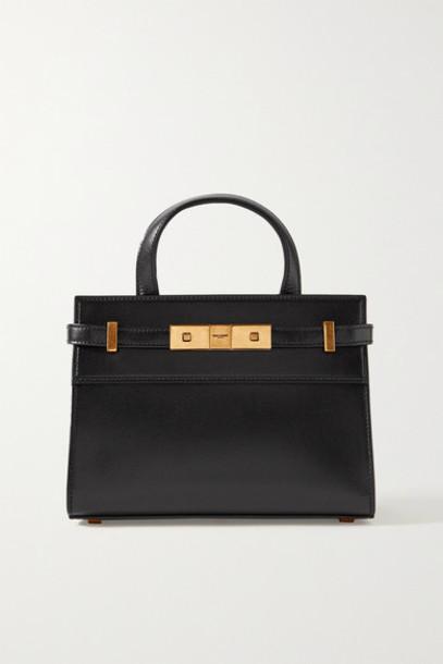 SAINT LAURENT - Manhattan Micro Leather Tote - Black