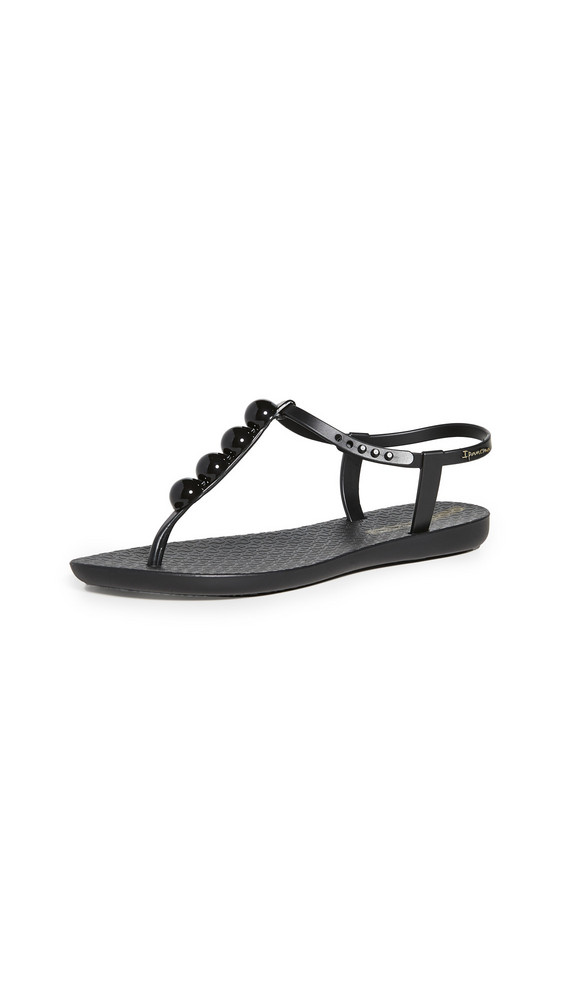 Ipanema Pearl T-Strap Sandals in black