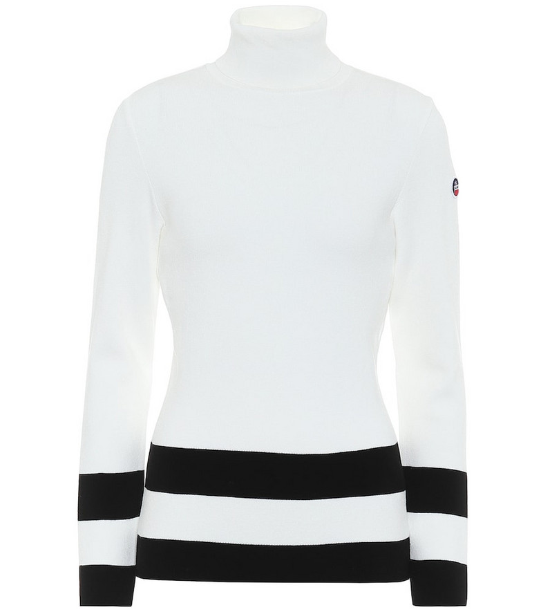 Fusalp Ubac ribbed knit sweater in white