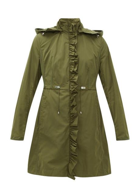 Moncler - Outremer Ruffled Shell Hooded Jacket - Womens - Khaki