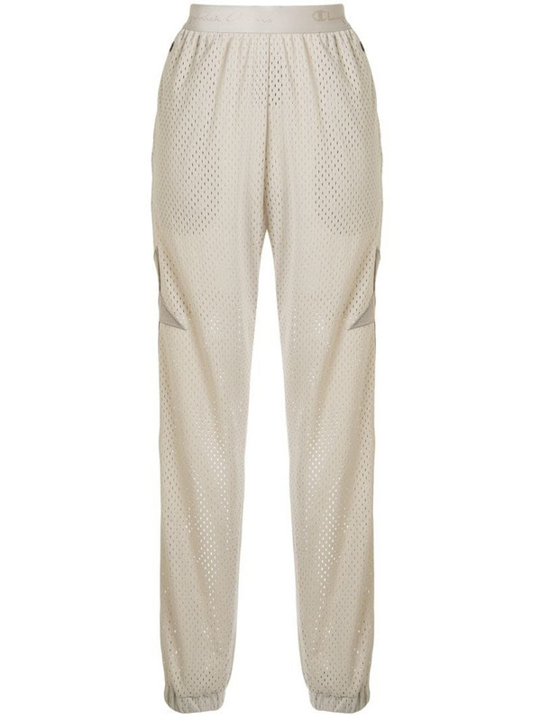 Rick Owens X Champion mesh track pants in neutrals
