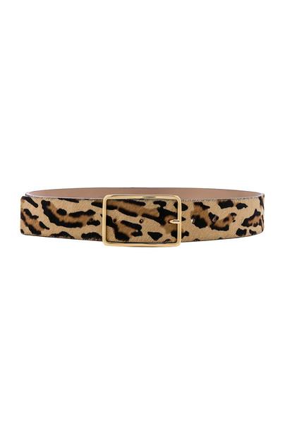 B-Low the Belt Milla Real Calf Hair Belt in brown