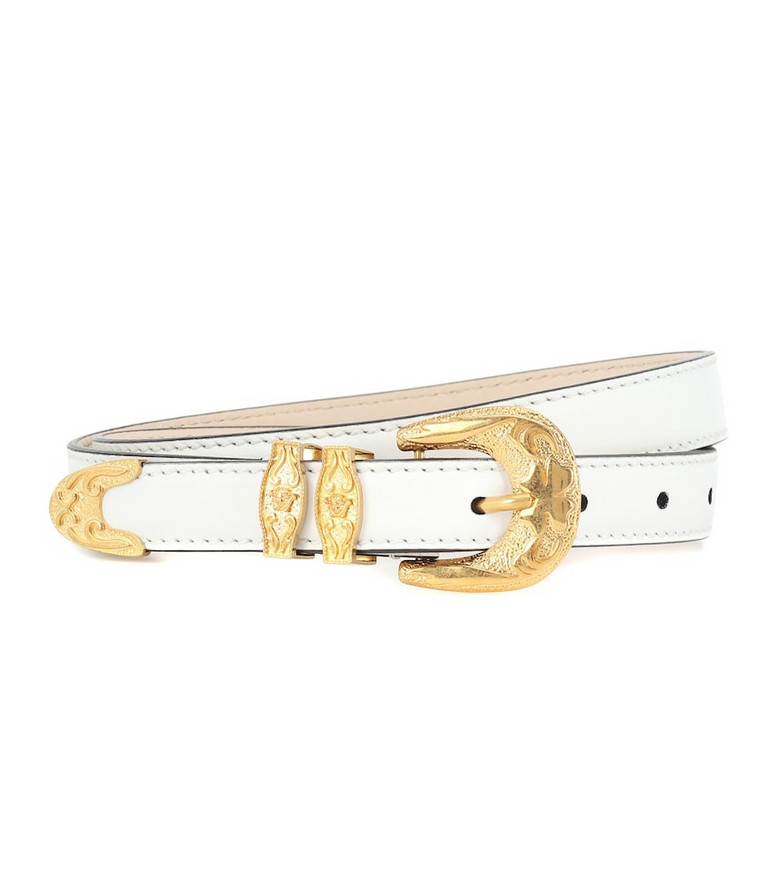 Versace Leather belt in white