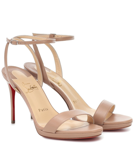 Christian Louboutin Loubi Queen 100 sandals in beige