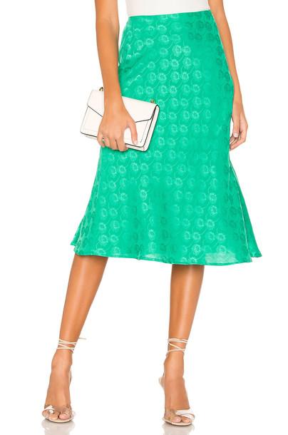 Privacy Please Liliana Midi Skirt in green