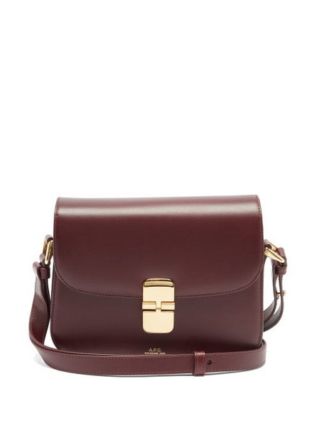 A.P.C. A.P.C. - Grace Leather Cross-body Bag - Womens - Burgundy
