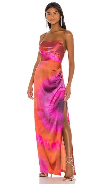 retrofete x REVOLVE Marlene Dress in Orange in pink / purple