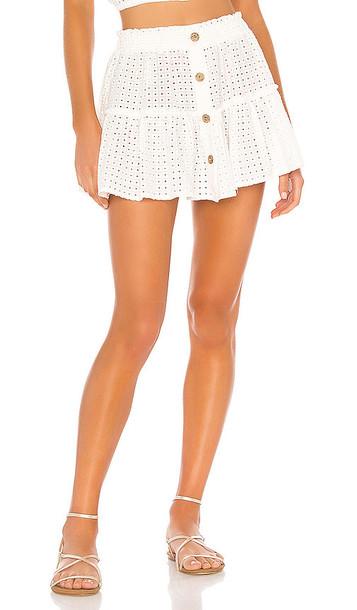 eberjey Portola Nellie Skirt in White