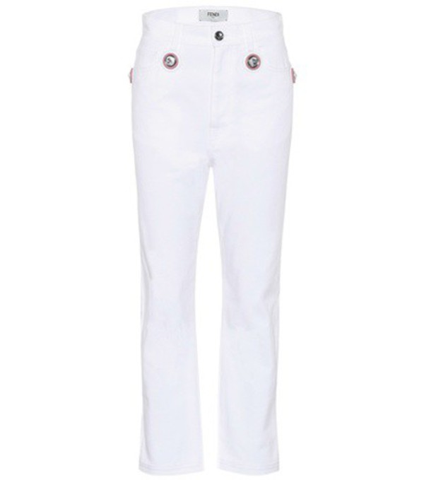Fendi Exclusive to mytheresa.com – embellished jeans in white