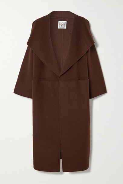 Totême - Annecy Wool And Cashmere-blend Coat - Brown