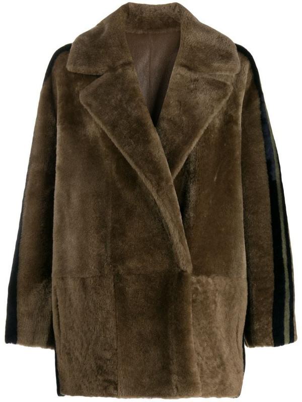 Blancha reversible oversized jacket in neutrals