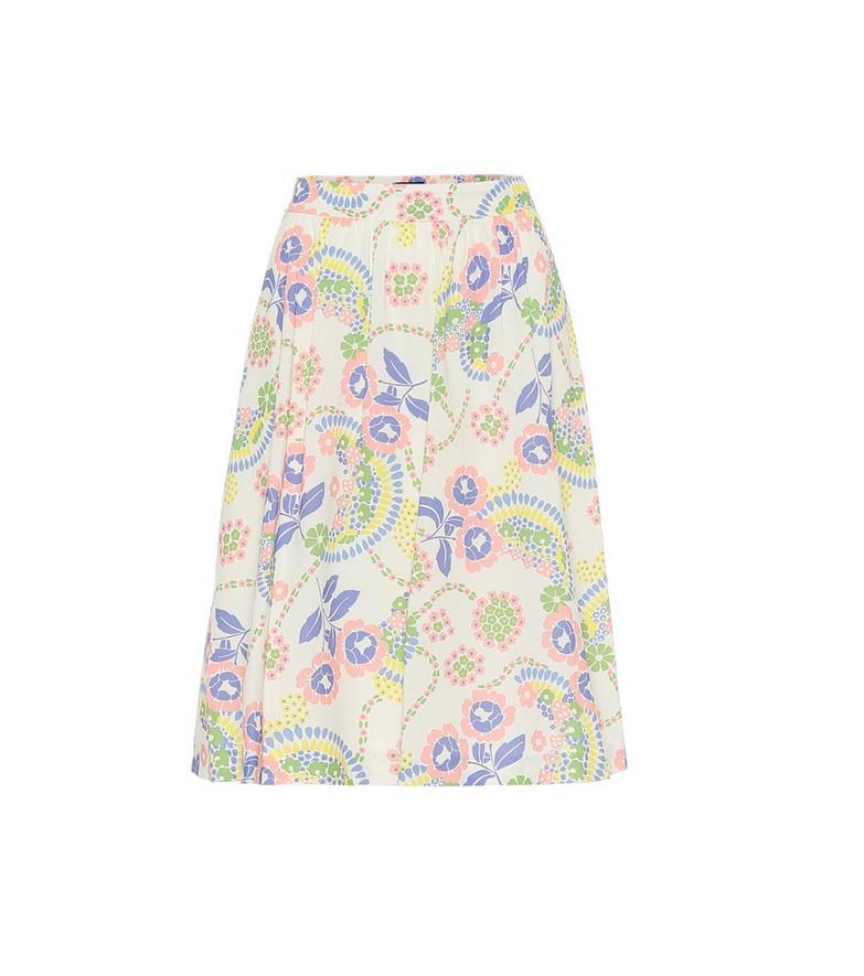 A.P.C. Ravenna floral cotton skirt