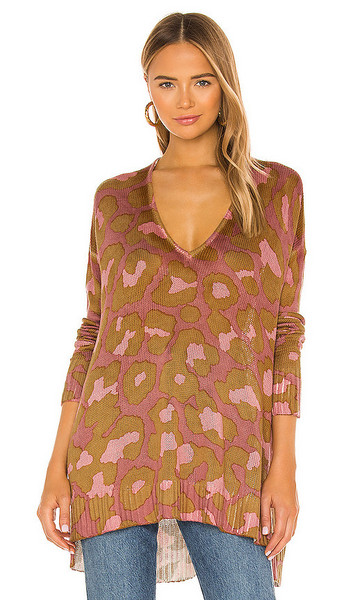 Show Me Your Mumu Hug Me Sweater in Pink in leopard
