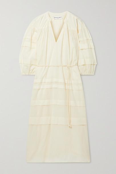 APIECE APART - Mari Pintucked Organic Cotton-voile Midi Dress - Cream