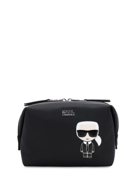 KARL LAGERFELD Karl Ikonik Nylon Make-up Bag in black