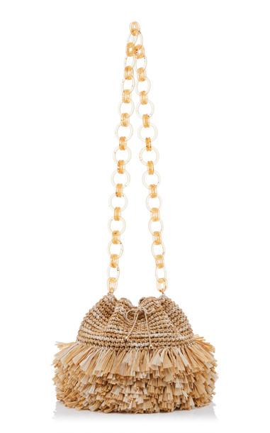 Carolina Santo Domingo Small Corallina Bucket Shoulder Bag in neutral