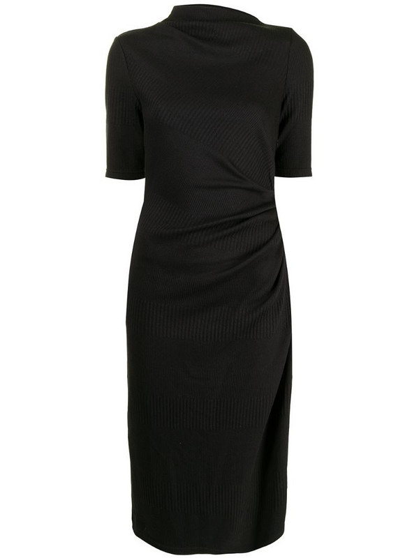 Acler Parkfield draped dress in black