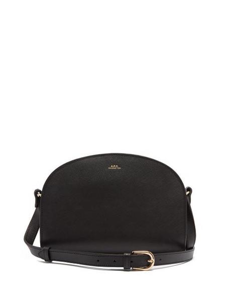 A.P.C. A.P.C. - Half Moon Saffiano-leather Cross-body Bag - Womens - Black