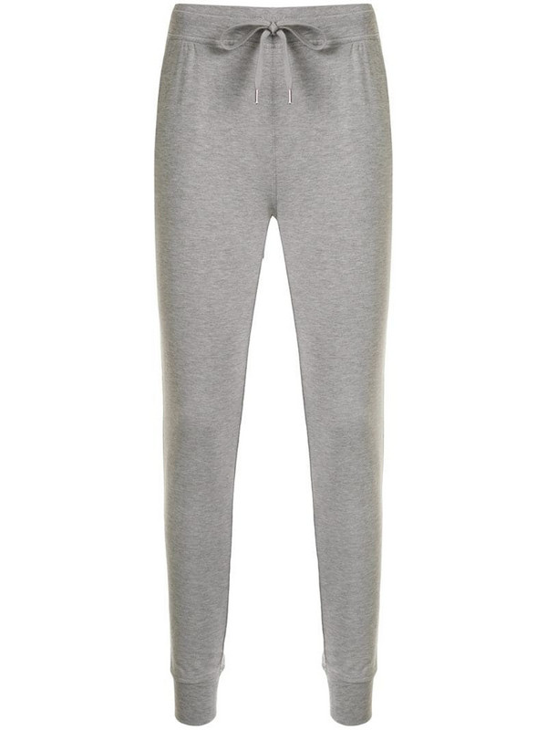 T By Alexander Wang fitted drawstring track pants in grey
