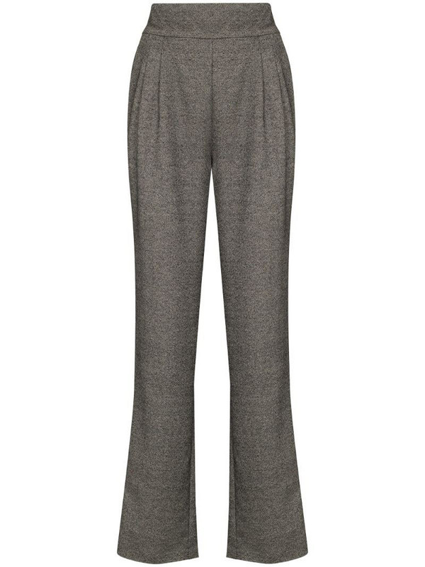 USISI SISTER Flora darted-detail wool trousers in grey