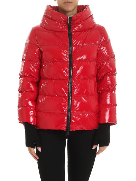 Herno Coated Red Down Jacket