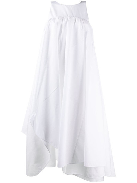 Nina Ricci sleeveless asymmetrical dress in white
