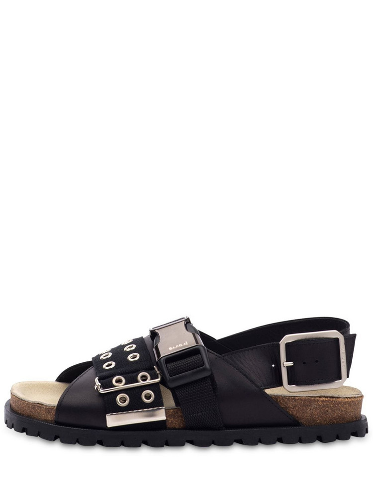A.P.C. 20mm Jules Buckled Leather Flats in black