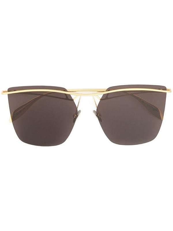 Alexander McQueen Eyewear square sunglasses in metallic