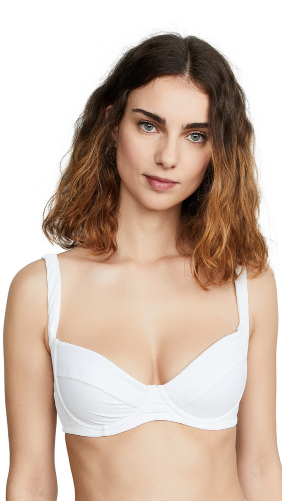 Charlie Holiday Expedition Bikini Top in white
