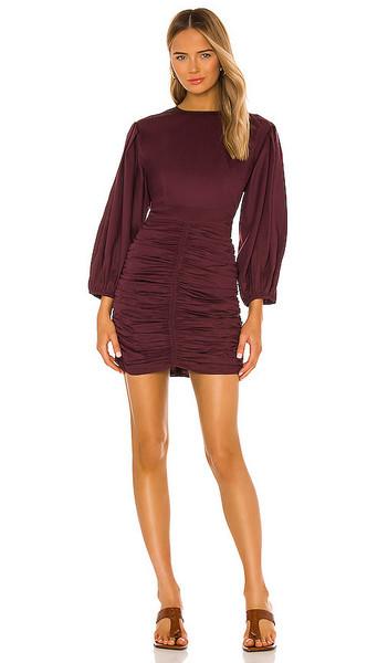 Rhode Sasha Dress in Wine in black