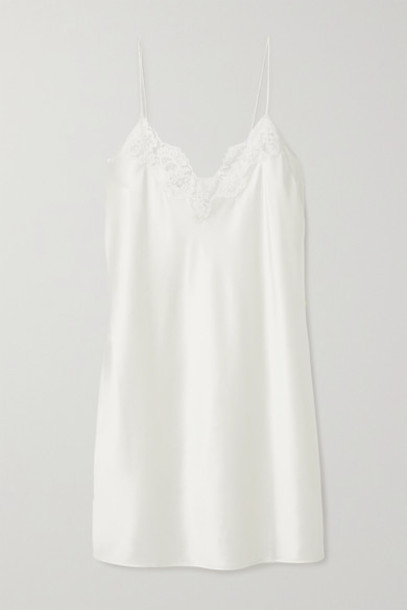 Cami NYC - The Illy Lace-trimmed Silk-blend Charmeuse Chemise - Ivory