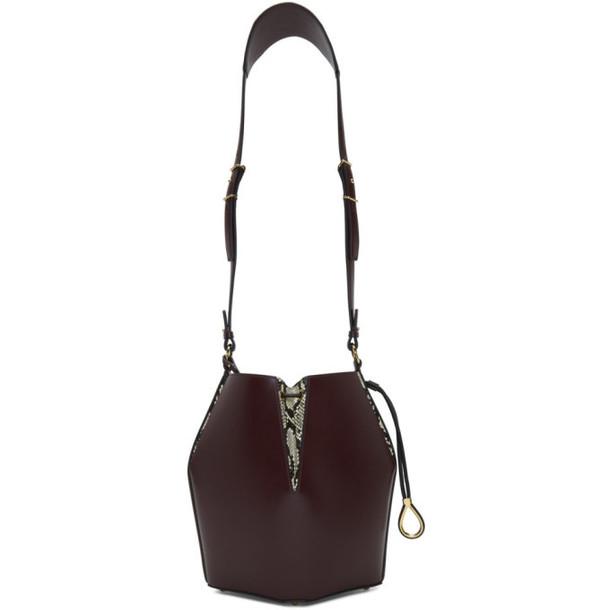Alexander McQueen Red The Bucket Bag