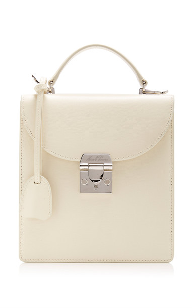 Mark Cross Uptown Leather Bag in white
