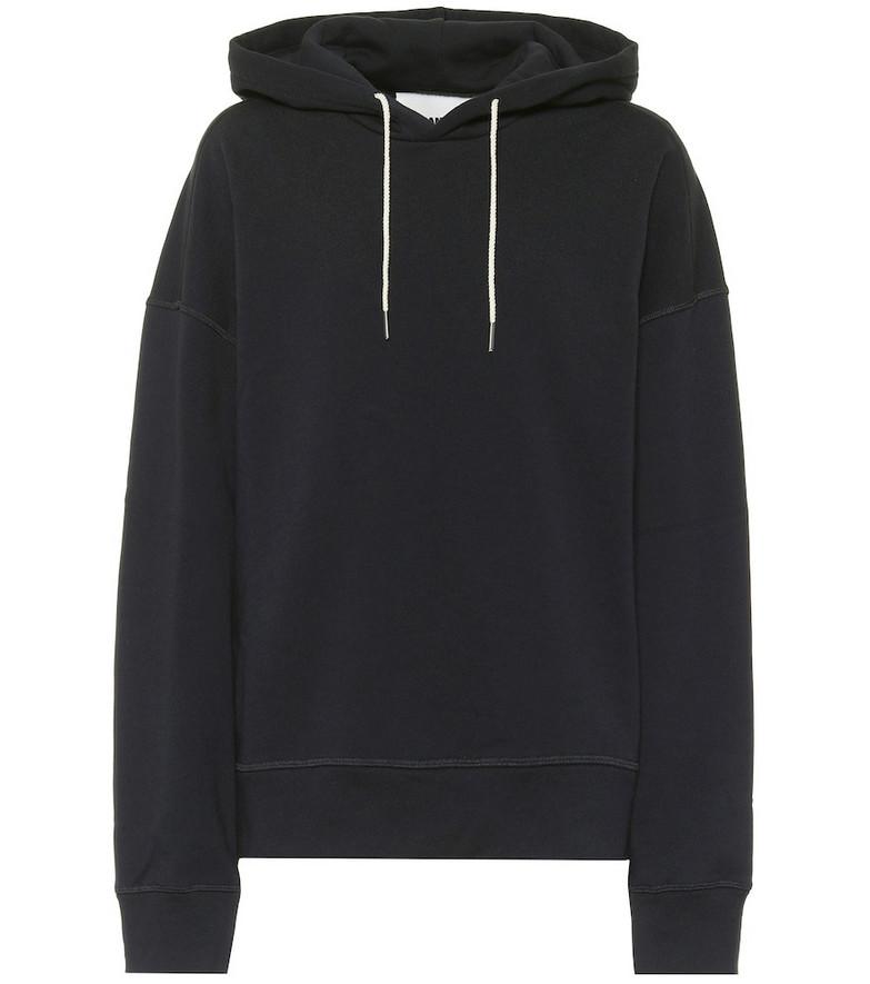 Jil Sander Cotton hoodie in blue