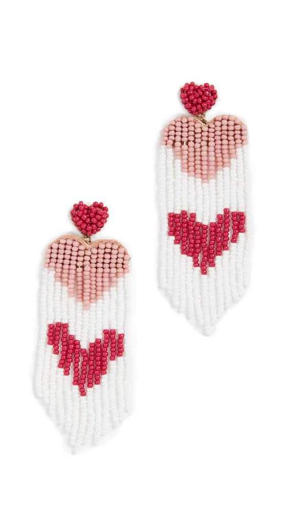 Deepa Gurnani Amaryllis Earrings in pink