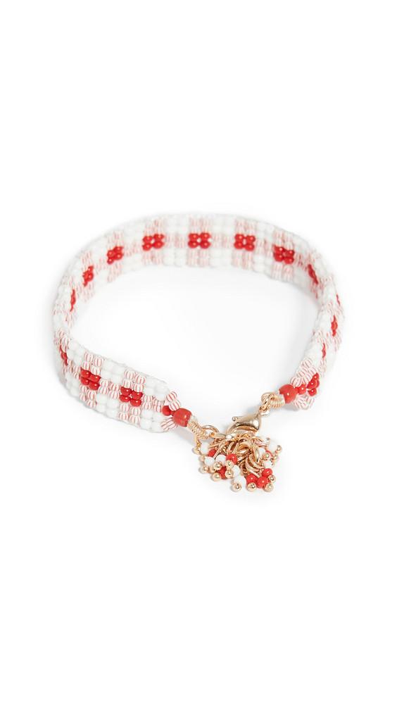 Roxanne Assoulin Gingham Bracelet in red