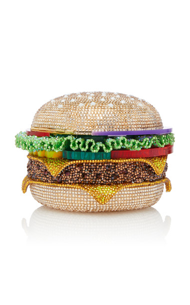 Judith Leiber Couture Crystal-Embellished Hamburger Clutch in multi