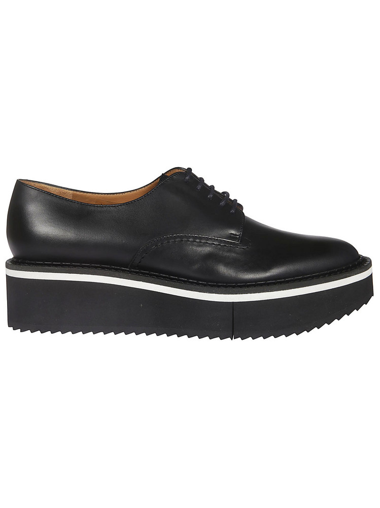 Robert Clergerie Berlin Platform Lace-up Shoes in black