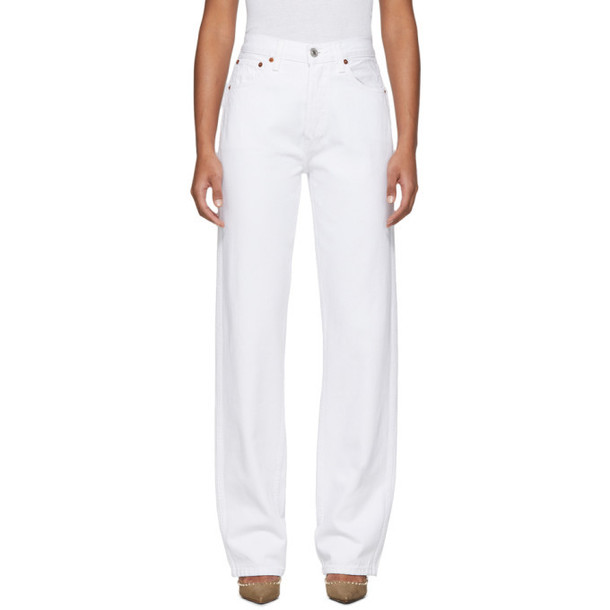 Re/Done White High-Rise Loose Jeans
