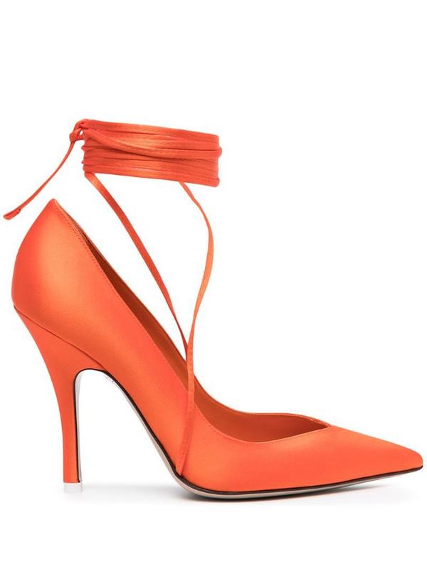 The Attico lace-up pumps in orange